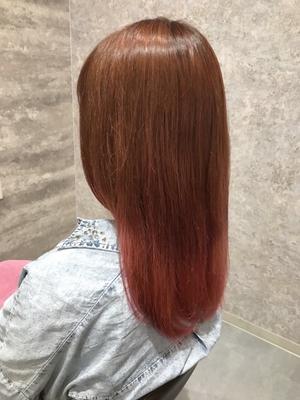 Candycolor/カッパーピンクグラデーション  #美容室浜松 #浜松 #美容師 #美容室 #イルミナカラー #アディクシーカラー #グレージュ  #グラデーション  #バレイヤージュ #ハイライト #外国人風カラー #ダブルカラー #デザインカラー #モロッカンオイル   #テールカラー  #ヘアーブランコ #hairblanco浜松 #カフェ #likes #青空  #instalike #instagood