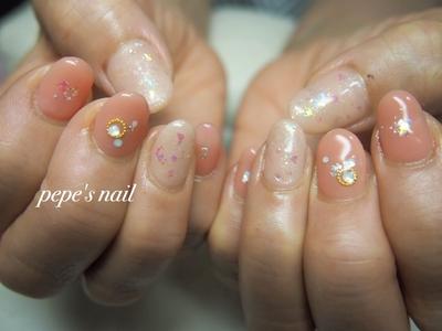 サンプルのまんま♡ 可愛らしいピンク色になりました。 ・ #pepesnail #nail #nailart #nailstagram #gelnail #nails  #paragel #pregel#vetro#bellaforma #handnail#ネイル #ネイルアート #ハンドネイル #ワンカラー#サンプルから#自宅ネイル#大分市