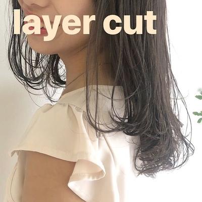 うごく髪がすてき😌🌿 , #レイヤー #カット #amoレイヤー#透け感