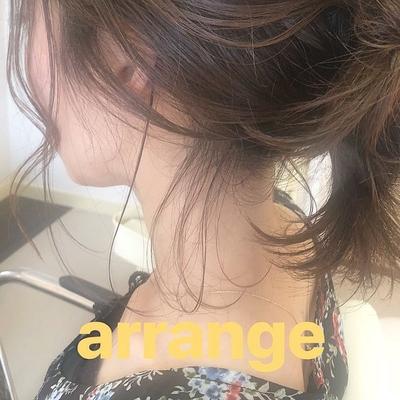 夏祭りにいかがですか? . #ヘアアレンジ #アレンジ#夏祭り#浴衣#後れ毛