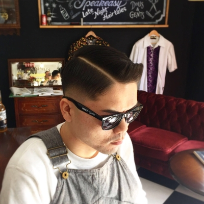 "Hard Part × Skin (0.0mm) Fade Style. 7:3 バーバースタイル詳細は↓ https://ameblo.jp/barberspeakeasy/entry-12266217015.html   金沢市で「フェードカット 」「ポマード」「メンズカット」のことは金沢駅近く バーバーショップ ""スピークイージー,,へ 大人紳士の通うバーバー http://barber-speakeasy.crayonsite.net  #金沢バーバー#スピークイージー#金沢駅周辺#理容室#床屋#メンズカット#フェードカット#スキンフェード#バーバースタイル#夜遅くまで営業#オシャレ#barber#barbershop#金沢バーバースタイル #金沢市バーバーショップスピークイージー #金沢市スキンフェード#金沢市バーバーショップ"