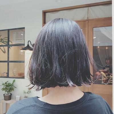 黒髪さんも可愛いボブ✧  #黒髪 #切りっぱなしボブ  #ボブ  #プライベートサロン