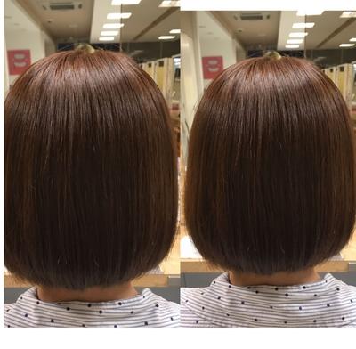 ✨似合わせカット✨&🍀イルミナカラー🍀 くせ毛の方を内に入りやすいボブスタイルに❣️ 黒髪から一回のカラーでもここまで綺麗な発色へと⭐️  #ヘア #カラー #イルミナカラー #カット #横浜 #美容室 #ヘアスタイル