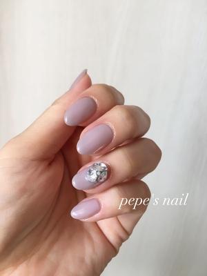 久しぶりにmy nail💅 肌馴染みのいいワンカラーでシンプルに♡ ・ #pepesnail #nail #nailart #nailstagram #gelnail #nails  #paragel #pregel#vetro#bellaforma #handnail#ネイル #ネイルアート#シンプルネイル#オフィスネイル#ハンドネイル #自宅ネイル#大分市