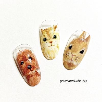 . お客様がびっくりしてくれる ネイルチップ🥺♡手描き🖌 真ん中にいるのはうちの猫🐈 . #nail#nailart#gel#gelnail#サンプル #デザイン#ネイルチップ#ペット #ペットネイル#リアルペット#可愛い #動物#🐶#🐱#🐰#animal#kawaii #instanail#nailistagram#nailist#💅🏻