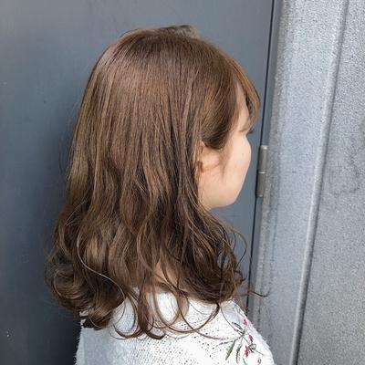 ✂︎マロンベージュ  #カット#カラー#カジュアル#ミディアム#巻き髪#スタイリング#オイル#艶髪#ミスチル