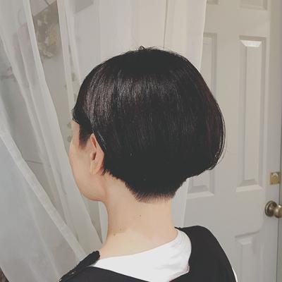 #刈り上げ女子  #刈り上げショート #ツーブロック  #黒髪ショート  #プライベートサロン  #nanon