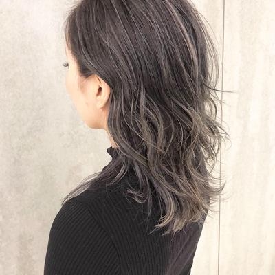 cut : ウルフベース color : バレイヤージュ+ハイグレージュ  #カット #hair #外国人風カラー  #ハイライト #グレージュ #ブルージュ  #ダメージレスブリーチ #バレイヤージュ  #グラデーション