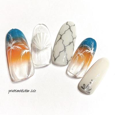 . #Luce. では#夏ネイル#夏デザイン を SMシリーズとして販売しております🌴 夏先取りしたい方