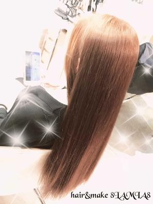 昨日のバージン毛のお客様! 初カラーはラベンダーブラウン! ご予約 082-221-3872           hair&make 8LAMIA8