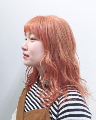 #オレンジヘア #ハイトーン #ハイトーンカラー #ダブルカラー #ブリーチ #ヘアカラー #オレンジ