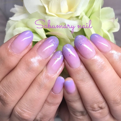 #紫陽花 #Wグラデーション #グラデーション