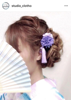浴衣着付け +編み込みルーズ ア/ 髪飾り handmaid ヒロ(hiro)  編み込みで大人かわいいルーズアップスタイル!(´ `*) 髪飾りは handmaid & いくつかはsold outしてしまいました。٩(ˊᗜˋ*)و .  #京都#祇園#kyoto#セットサロン #studioclotho#スタジオクロト #ヒロstudio  #浴衣#浴衣ヘア#和装  #ヘアアレンジ #ヘアメイク#アーティスト#美容師 #ファッション#モデル#カメラ #おしゃれ#おしゃれさんと繋がりたい  #アップスタイル#編み込み #祇園祭り #イベント#パーティ