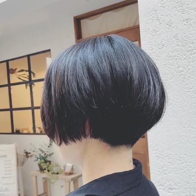 #ショートボブ  #刈り上げショート  #ショートヘア #黒髪ショート  #プライベートサロン  #nanon