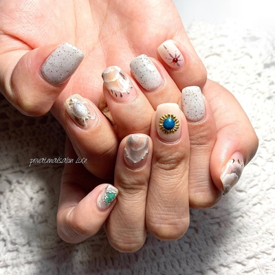 . #nailswag #nails2inspire #nailsofinstagram #summernails #ニュアンスネイル #天然石ネイル #💅🏻 #nail #gelnail #nailist #nailart #naildesign  #お客様ネイル #nara #奈良県 #奈良ネイルサロン #お家ネイル #自宅サロン #privatenailsalonLuce. #Nailbook #tredina #掲載 #instagram #instanail  #nailistagram #instalike #instagood #nails2019