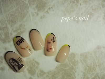 イエロー×ブラック カーキ×ブラック  ・ #pepesnail #nail #nailart #nailstagram #gelnail #nails  #paragel #pregel#vetro#bellaforma #handnail#ネイル#ネイルアート #ハンドネイル #サンプル#サンプルチップ#自宅ネイル#大分市