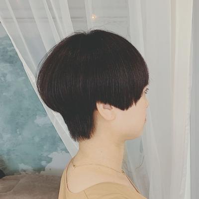 #マッシュショート #黒髪ショート #ショートヘア #プライベートサロン #nanon