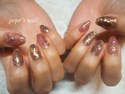 my nail💅 秋カラーのニュアンスネイル ・ #pepesnail #nail #nailart #nailstagram #gelnail #nails  #paragel #agehagel #pregel#vetro#bellaforma #handnail#mynail#mynails #ネイル #ネイルアート#ニュアンスネイル#秋ネイル #ハンドネイル #大分市ネイル #マイネイル #自宅ネイル#大分市森